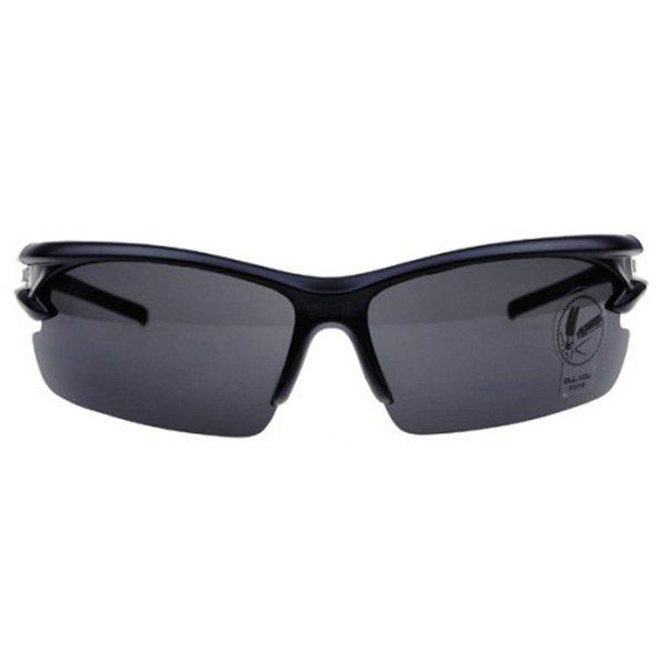 High Quality Outdoor Sports Mountain Biking Plastic Cycling Sunglasses - BLACK