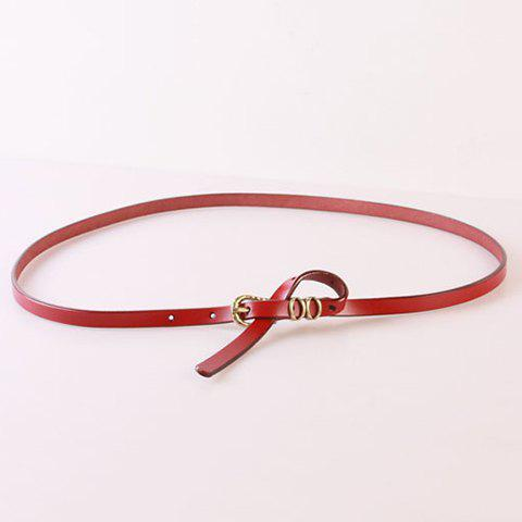 Elegant Pin Buckle Solid Color Waist Belt For Women - RED
