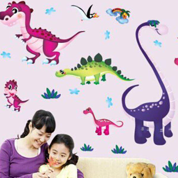 Stylish Cartoon Dinosaur Pattern Wall Sticker For Children's Bedroom Decoration - COLORMIX