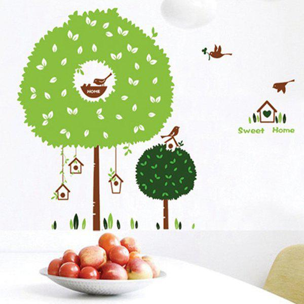 Stylish Tree House Pattern Wall Sticker For Bedroom Livingroom Decoration - COLORMIX