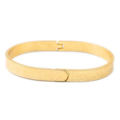 Plated Alloy Bracelet - GOLDEN