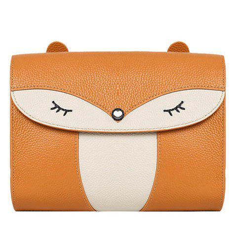 Leisure Cover and Color Block Design Women's Crossbody Bag