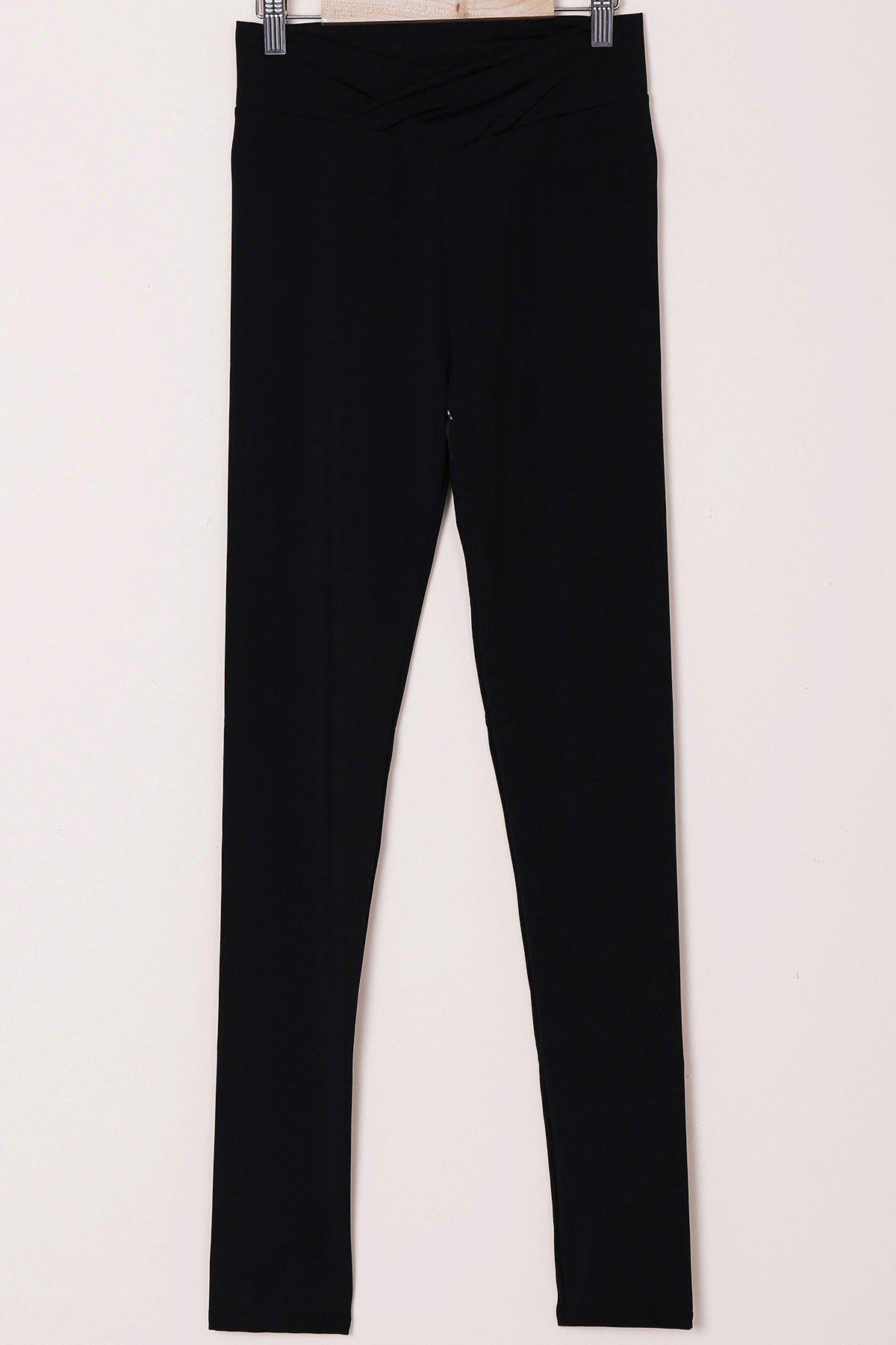 Active Solid Color High-Waisted Skinny Women's Pants