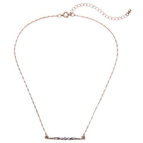 Rhinestone Adjustable Pendant Necklace -  GOLDEN