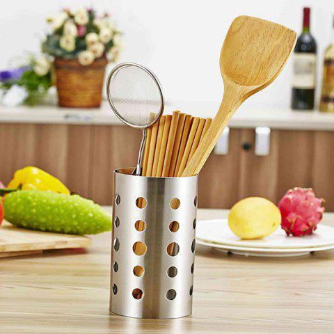 Hot Sale Flatware Leachate Storage Holder Hollow Out Stainless Steel Chopsticks Cage - SILVER