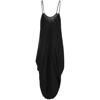 Sexy Strappy Black Loose-Fitting Jumpsuit For Women - BLACK XL