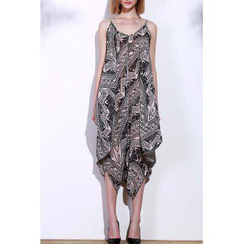 Stylish Sleeveless Spaghetti Strap Printed Women's Baggy Jumpsuit