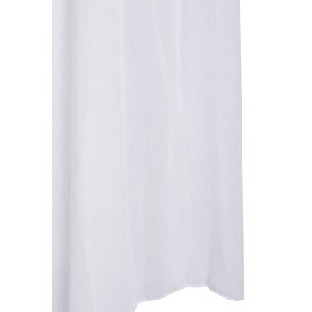 Stylish Scoop Neck Sleeveless Furcal Hollow Out Women's Dress - WHITE XL