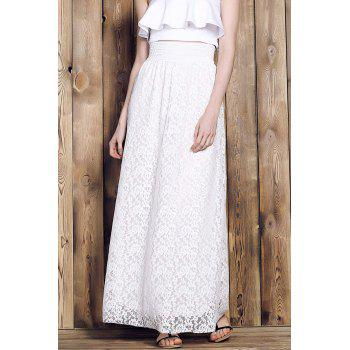 High Waisted Lace Maxi Skirt For Women