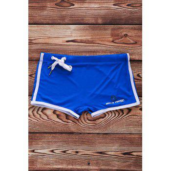 Lace Up Sexy Solid Color Sports Style Men's Swimming Trunks