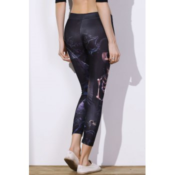 Chic Elastic Waist Printed Slimming Women's Pants - ONE SIZE(FIT SIZE XS TO M) ONE SIZE(FIT SIZE XS TO M)