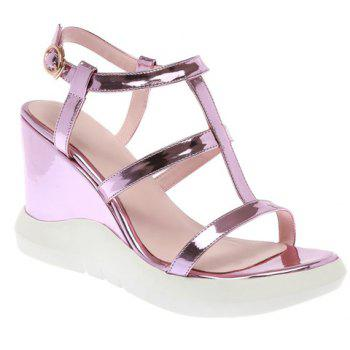 Fashionable Solid Colour and Wedge Heel Design Women's Sandals