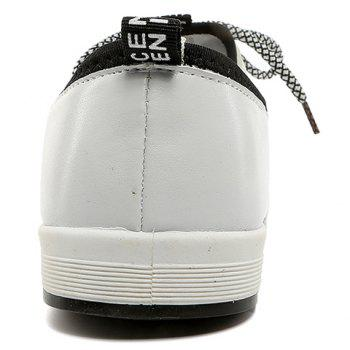 Trendy PU Leather and Splicing Design Men's Casual Shoes - LIGHT GRAY 43