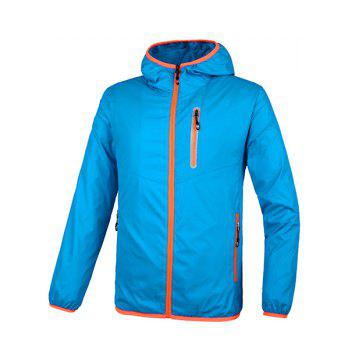 Hooded Plus Size Solid Color Long Sleeve Sport Men's Quick-Dry Jacket