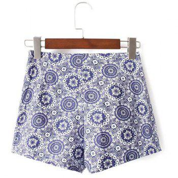 Ethnic Style Women's High Waist Floral Print Shorts