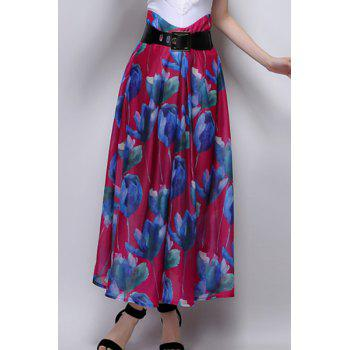 Floral Long A Line Skirt