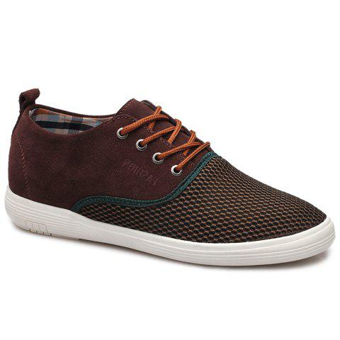 Stylish Suede and Splicing Design Men's Casual Shoes - COFFEE 42