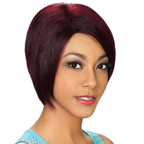 Bob Style Straight Synthetic Stylish Wine Red Short Capless Wig For Women - WINE RED
