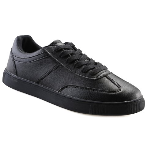 Concise Stitching and Lace-Up Design Men's Casual Shoes