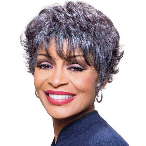 Shaggy Curly Mixed Color Capless Fashion Short Women's Synthetic Wig - COLORMIX