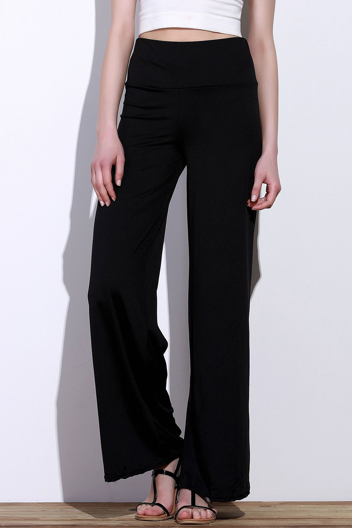 Casual Women's Solid Color Loose-Fitting Pants - BLACK XL