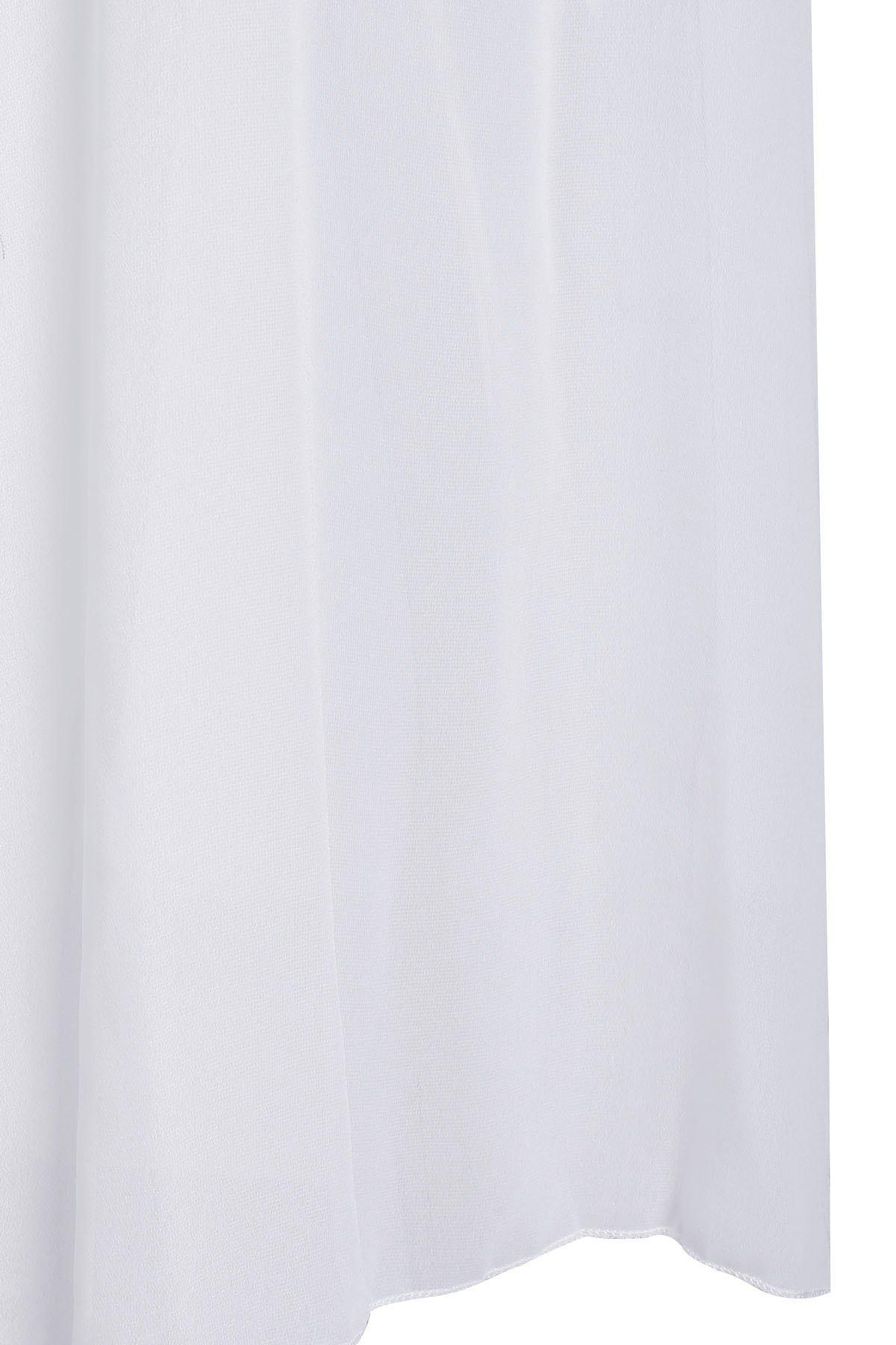 Stylish Scoop Neck Sleeveless Furcal Hollow Out Women's Dress - WHITE M
