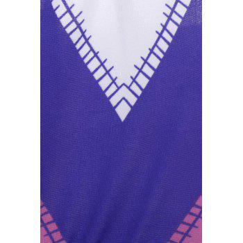 Colorful Strapless Zigzag Dress - ROSE M