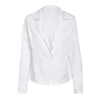 Formal Long Sleeve Lapel One Button Design Women's White Blazer