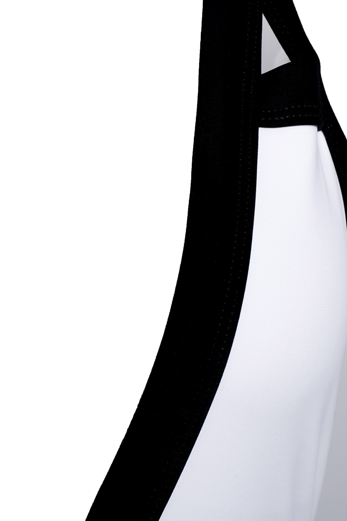 Sexy Plunging Neck Sleeveless One-Piece Color Block Women's Swimwear - WHITE/BLACK M