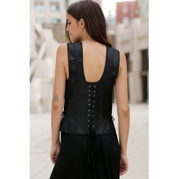 Stylish Women's Jacquard Criss-Cross Corset - M M