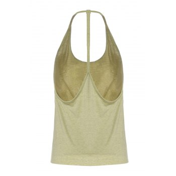Sexy Open Back Spaghetti Strap Solid Color Women's Tank Top - M M