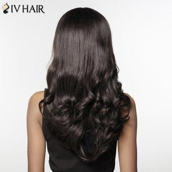 Shaggy Wave Side Bang Human Hair Capless Long Siv Hair Wig For Women - JET BLACK