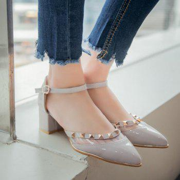 Stylish Transparent Plastic and Pointed Toe Design Women's Pumps - 37 37