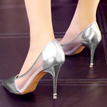 Fashion Pointed Toe and Splicing Design Women's Pumps - 36 36