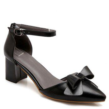 Fashionable Black Color and Bowknot Design Women's Pumps