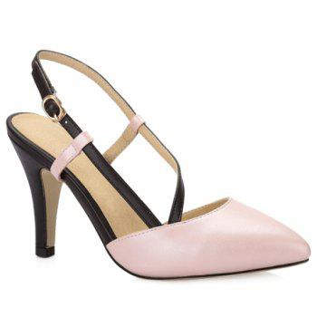 Graceful Colour Block and Stiletto Heel Design Women's Pumps