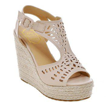 Fashionable Hollow Out and Solid Colour Design Women's Sandals