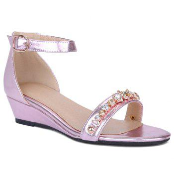 Fashionable Wedge Heel and Ankle Strap Design Women's Sandals