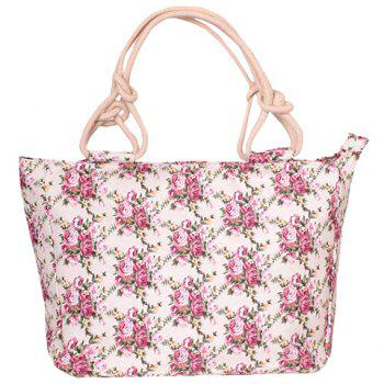 Sweet Floral Print and Canvas Design Women's Tote Bag