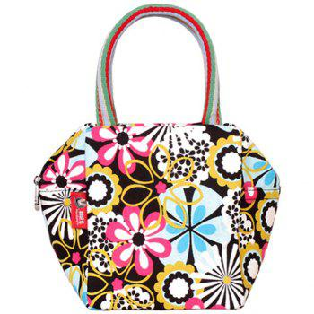 Casual Flower Print and Canvas Design Women's Tote Bag