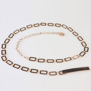 Chic Hollow Rectangle Embellished Women's Alloy Waist Chain