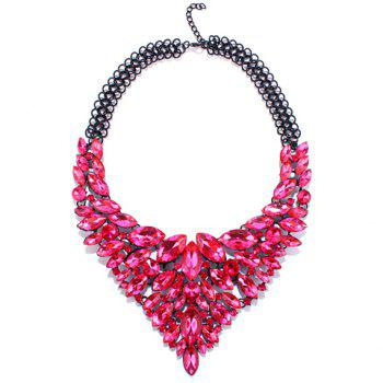 Artificial Crystal Multilayer Oval Necklace