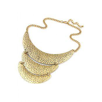 Chic Three Layered Crescent Clavicle Necklace For Women