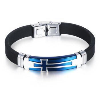 Chic Style Alloy Faux Leather Cross Bracelet For Men