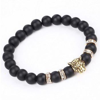 Leopard Head Beaded Bracelet