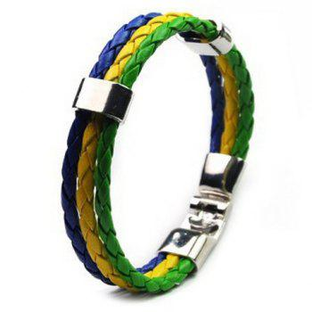 Layered Faux Leather Brazil Bracelet