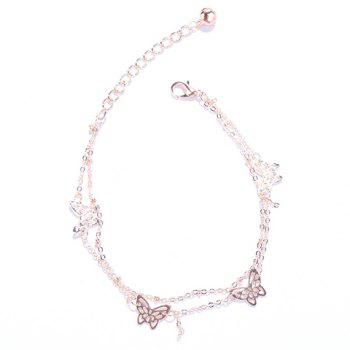 Charming Multilayer Butterfly Anklet For Women
