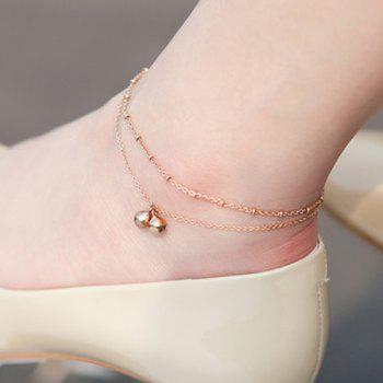 Multilayer Bells Scallop Foot Bracelet - GOLDEN