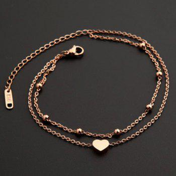 Charming Multilayer Heart Anklet For Women - GOLDEN