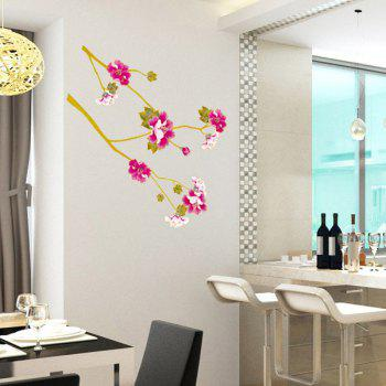Fashion Floral Plants Pattern Wall Sticker For Bedroom Livingroom Decoration - COLORMIX